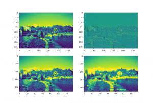 tensorflow CNN 卷积神经网络中的卷积层和池化层的代码和效果图