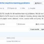 机器学习各领域问题最尖端的成果集合