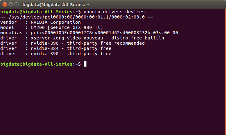 Ubuntu 安装 tensorflow-gpu 1.4 包含 CUDA 8.0 和cuDNN